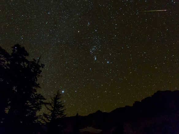 Shooting star over Granite Dome (photo credit: Paul)