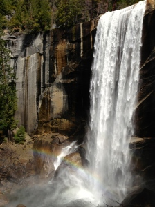 Vernal Falls as seen from the Mist trail