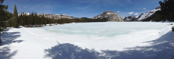 Ice covered Tenaya Lake