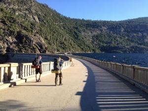 Crossing O'Shaughnessy Dam