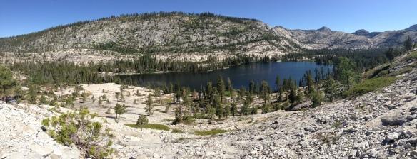 Looking down at Vernon Lake